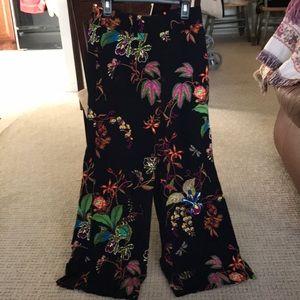 H&M Floral High Waist Pants